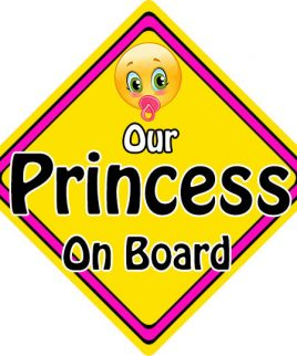 Child Baby On Board Emoji Car Sign Our Princess On Board