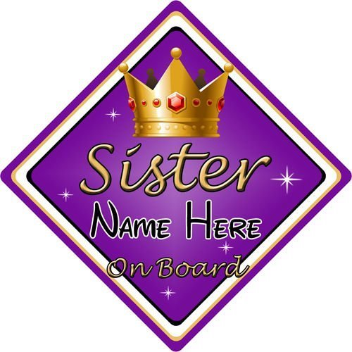 Personalised Sisters Baby//Child On Board Car Sign New!